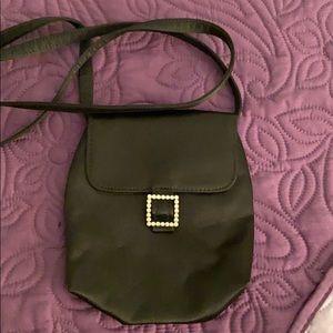 Kenneth Cole Black satin bag.